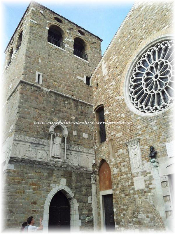 La Cattedrale di San Giusto con lo splendido rosone